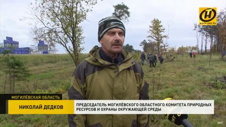Зелёный барьер от выбросов: в Могилёвском районе высаживали деревья