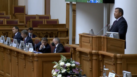 Министр природных ресурсов и охраны окружающей среды Республики Беларусь Андрей Худык выступил на пленарном заседании IX Невского международного экологического конгресса