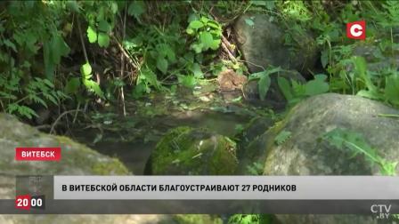 На территории только Витебской области находится более 200 родников